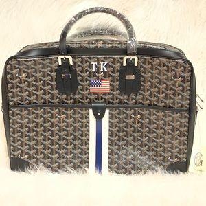 GOYARD Black Coated Men's Ambassade Briefcase